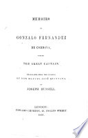 Memoirs of G  Fernandez de Cordova  styled the great Captain  Translated from the Spanish     by J  Russell