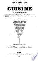 Dictionnaire de cuisine et d'ćonomie ménagère