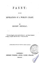 Fanny  or The revelations of a woman s heart  Transl