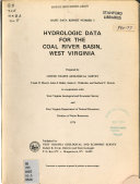 Hydrologic data for the Coal River basin  West Virginia