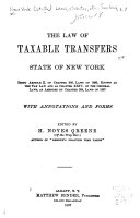 The Law Of Taxable Transfers State Of New York
