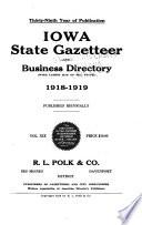 Iowa State Gazetteer And Business Directory