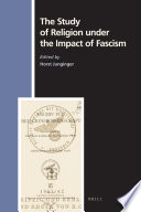 illustration The Study of Religion Under the Impact of Fascism