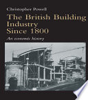 The British Building Industry since 1800