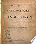 Svenskt och tyskt handlexikon