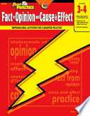 Power Practice  Fact or Opinion and Cause   Effect  Gr  3 4  eBook