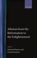 Atheism from the Reformation to the Enlightenment
