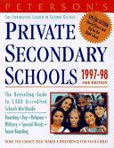 Peterson s Private Secondary Schools  1997 98