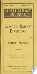 Electric Railway Directory And Buyers Manual