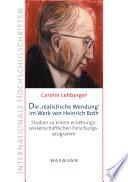 """Die """"realistische Wendung"""" im Werk von Heinrich Roth"""