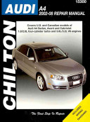Chilton S Audi A4 2002 08 Repair Manual