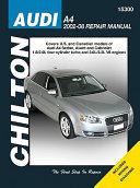 Chilton S Audi A4 2002 08 Repair Manual