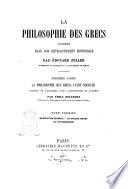1: La philosophie des grecs avant Socrate par Edouard Zeller