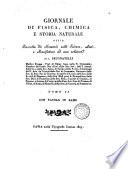Giornale de fisica, chimica e storia naturale