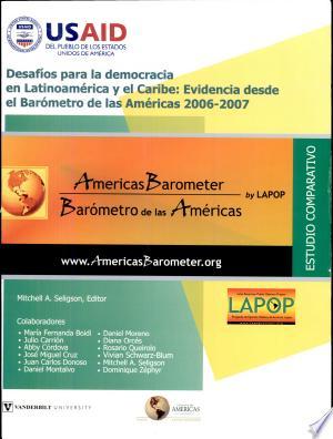 Desafíos para la democracia en Latinoamérica y el Caribe: evidencias desde el Barómetro de la Américas 2006-07 - ISBN:9780979217883
