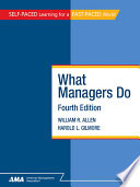 What Managers Do  Fourth Edition