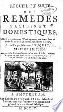 Recueil et suite des Remèdes, etc. Few MS. notes