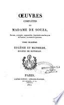 Oeuvres complètes de Mme Adélaïde de Souza