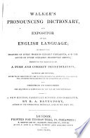 Pronouncing Dictionary and Expositor of the English Language