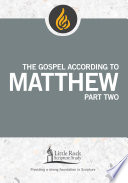 The Gospel According to Matthew  Part One Book PDF