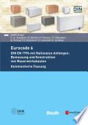 Eurocode 6 Din En 1996 Mit Nationalen Anh Ngen