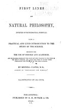 First Lines of Natural Philosophy, Divested of Mathematical Formulae