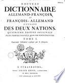 Nouveau dictionnaire Allemand-Français et Français-Allemand