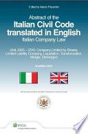 Italian Civil Code translated in English