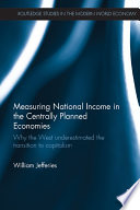 Measuring National Income in the Centrally Planned Economies Book PDF