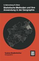 Statistische Methoden und ihre Anwendung in der Geographie