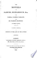 The Novels of Samuel Richardson  Esq