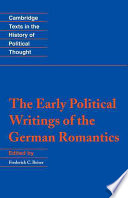 The Early Political Writings of the German Romantics
