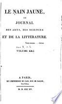 Le Nain jaune  ou Journal des arts  des sciences et de la litt  rature