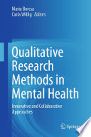 Qualitative Research Methods In Mental Health