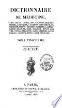 Dictionnaire de m  decine