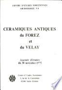 illustration Céramiques antiques du Forez et du Velay