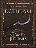 Living Language Dothraki  Lehrbuch   CD