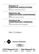 Répertoire Des Associations Europeennes. Partie 2, Sociétés Savantes, Scientifiques Et Techniques