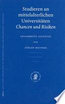 Studieren an Mittelalterlichen Universitäten