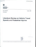 download ebook literature review on vehicle travel speeds and pedestrian injuries pdf epub