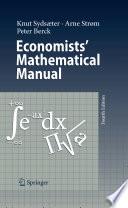Economists  Mathematical Manual