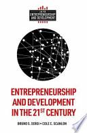 Entrepreneurship And Development In The 21st Century