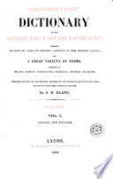 Neuman Baretti And Seoane S Dictionary Of The Spanish And English Languages