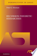 Recursion Theoretic Hierarchies Book PDF