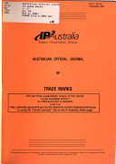 Australian Official Journal of Trade Marks