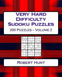 Very Hard Difficulty Sudoku Puzzles Volume 2