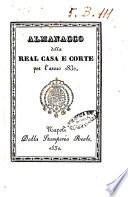 Almanacco della Real Casa e Corte per l anno