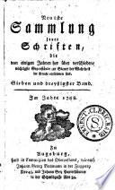 Neueste Sammlung jener Schriften  die von einigen Jahren her   ber verschiedene wichtige Gegenst  nde zur Steuer der Wahrheit im Drucke erschienen sind