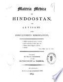Materia Medica of Hindoostan