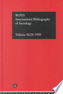 Ibss: Sociology: 1999 : institutions and any public or private institution whose...